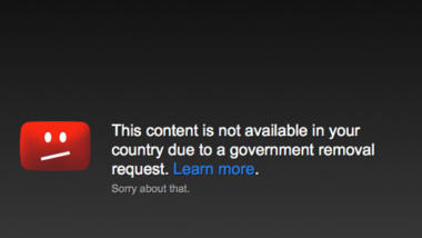Not available due a government request?