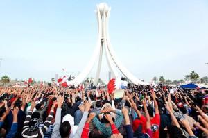 Demonstranten auf dem Perlenplatz. 19. Februar 2011. Bild: Bahrain in pictures. Lizenz: Creative Commons BY-SA 3.0.