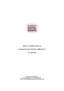 Schattenbericht von EDRi zur EU-Richtlinie.
