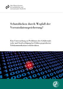 """Keine """"Schutzlücken durch Wegfall der Vorratsdatenspeicherung""""."""