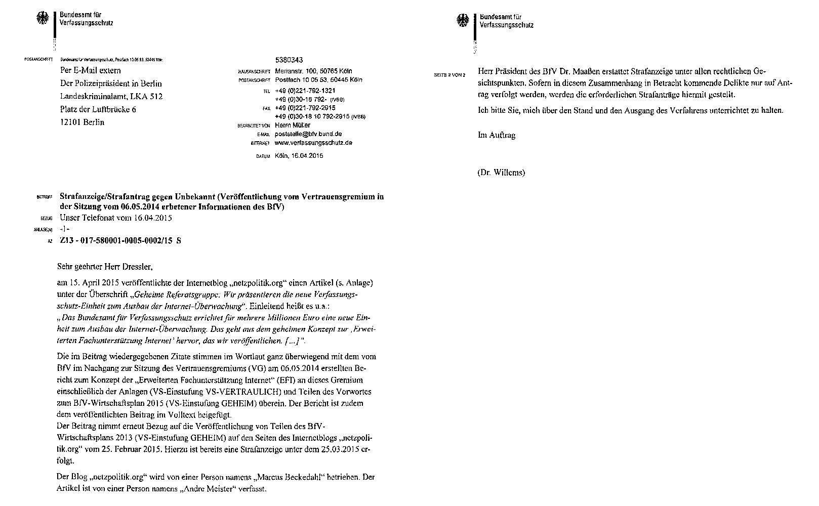 2015-04-16_BfV-LKA-Strafanzeige-Landesverrat