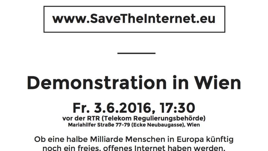 Demo Freitag Wien Detail: Diesen Freitag: Auf Zur Demonstration Für Netzneutralität