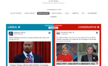 "Screenshot des ""Blue Feed, Red Feed"" Tools der Washington Post"