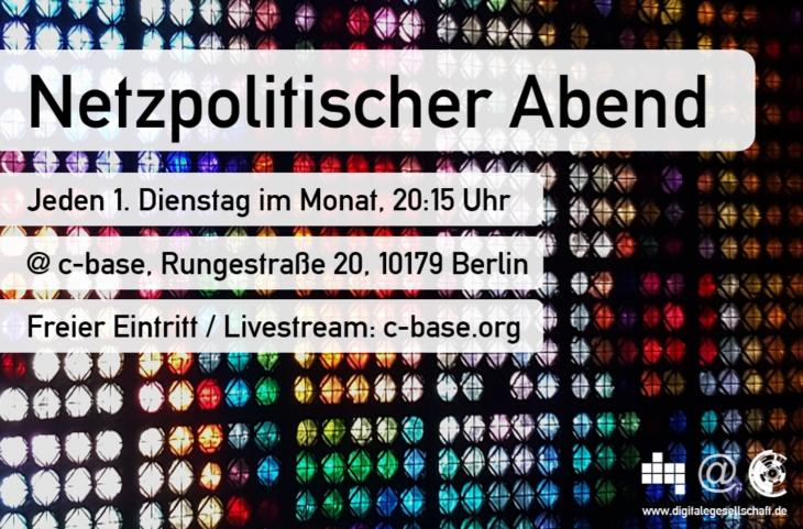 Jeden ersten Dienstag im Monat: Der Netzpolitische Abend der DigiGes in Berlin