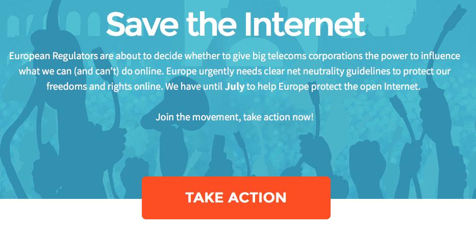 Netzneutralität SavTheInternet EU *jetzt klicken*