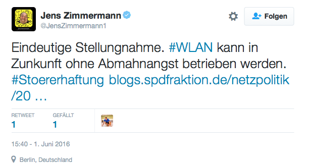 Klares Versprechen des SPD-Bundestgsabgeordneten Jens Zimmermann