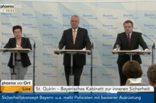 Pressekonferenz zur Kabinettsklausur in St. Quirin | Screenshot: YouTube