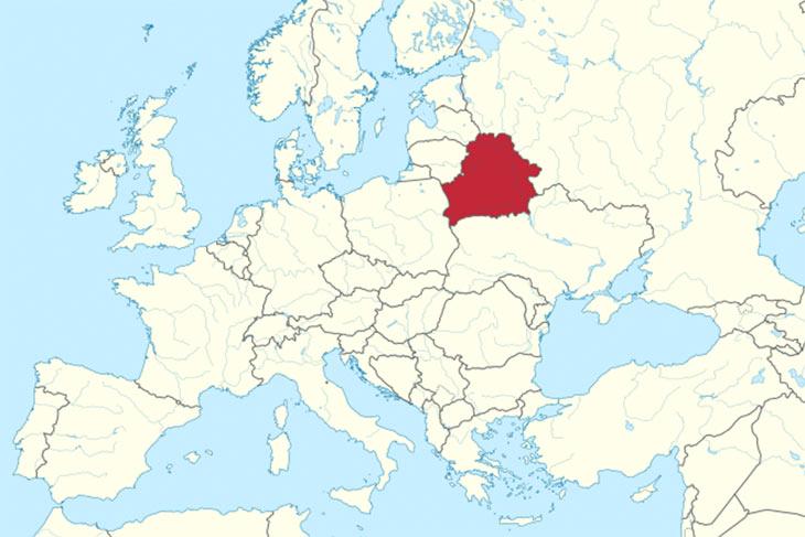 """Belarus wird oft als die """"letzte Diktatur Europas"""" bezeichnet. Präsident Lukaschenko regiert das Land seit 1994 autokratisch. Karte: CC-BY-SA 3.0  Wikipedia"""