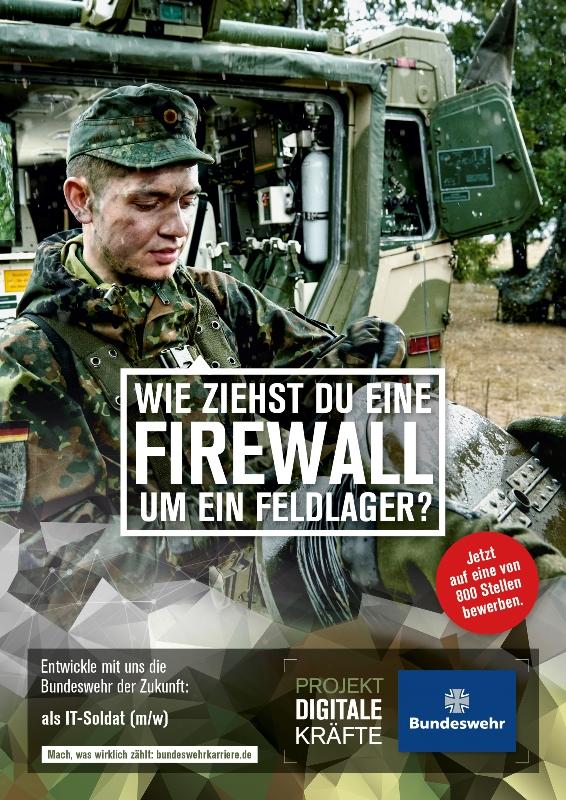Plakat aus der Kampagne Digitale Kräfte. Via bundeswehrkarriere.de
