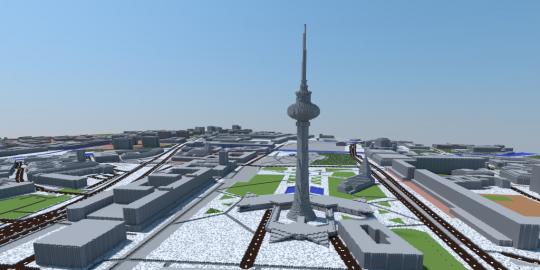 Kann man auch mit offenen Daten machen: Minecraft-Karte von Berlin  - Bild via daten.berlin.de