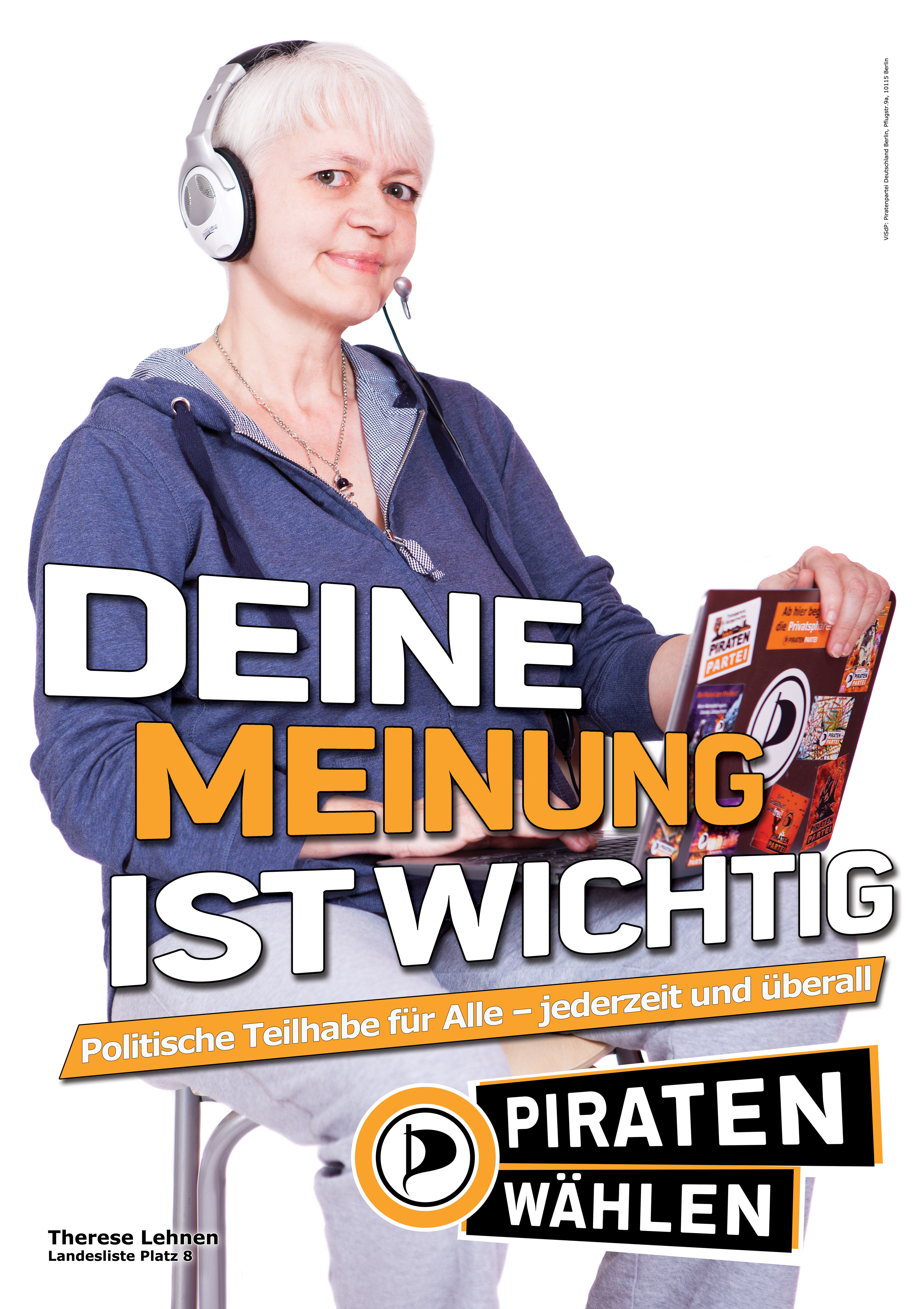 Piraten-Wahlplakat für mehr Partizipation. Via brunokramm.wordpress.com