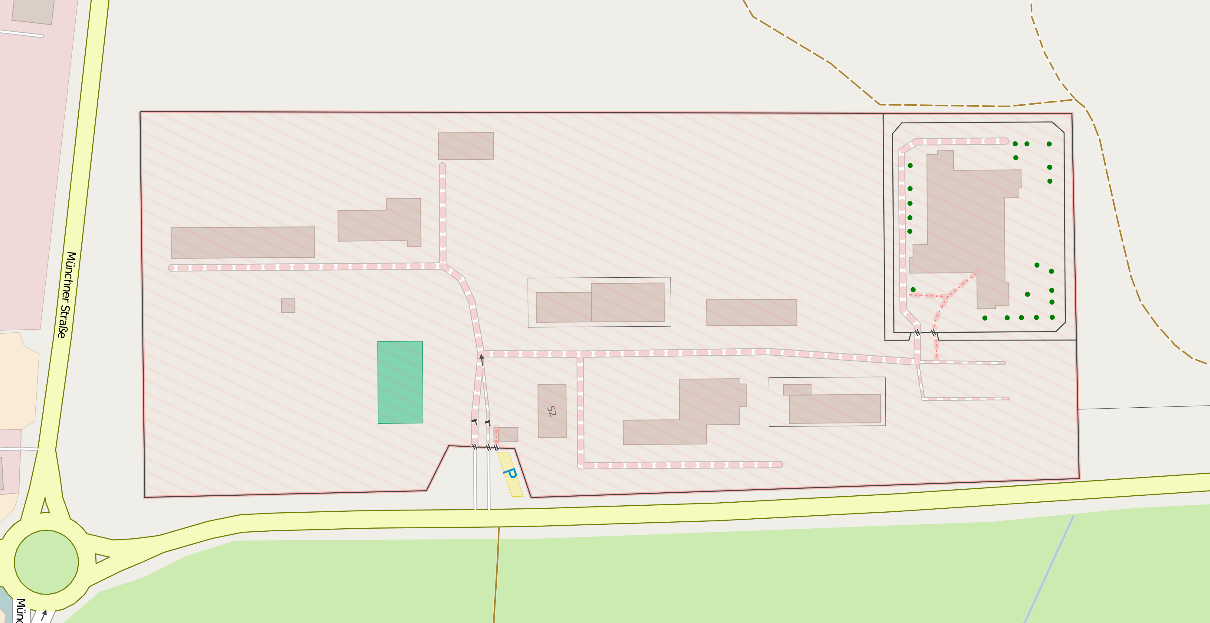 Map of the Mangfall Barracks at the BND Station Bad Aibling. Picture: OpenStreetMap contributors. License: Creative Commons BY-SA 2.0.