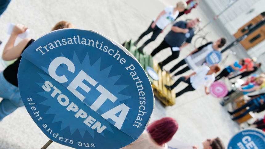 Das Freihandelsabkommen CETA wird voraussichtlich die bestehende Patent- und Urheberrechtsregeln in der EU ausweiten.