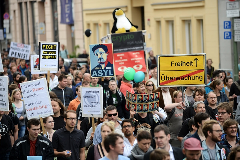 Protest gegen Überwachung im Jahr 2014. (Archivbild) Foto: CC-BY-SA 2.0 Andreas Gerhold
