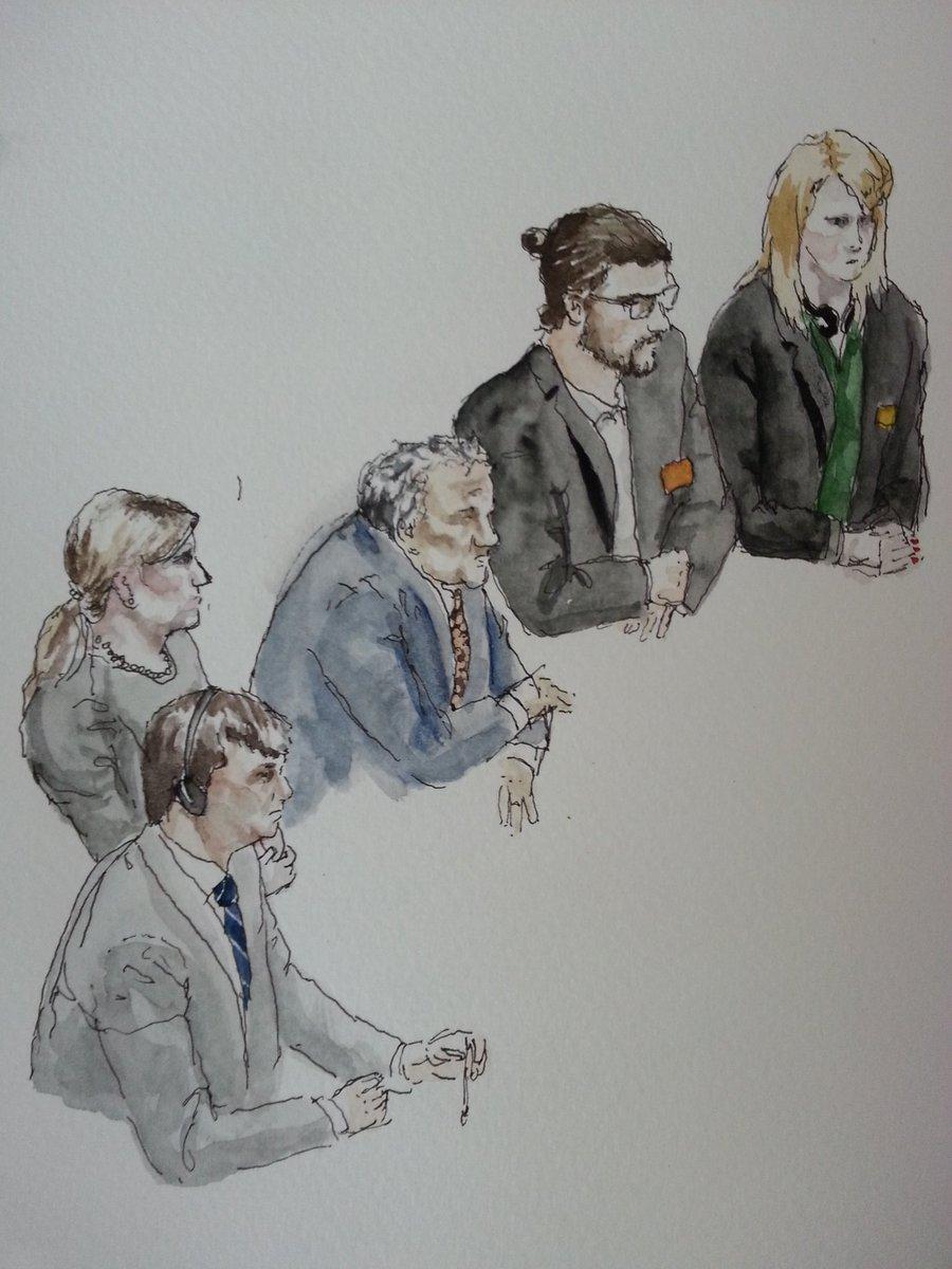 Die heutigen Sachverständigen im NSA-Untersuchungsausschuss. Zeichnung: Stella Schiffczyk. Lizenz: nicht frei.