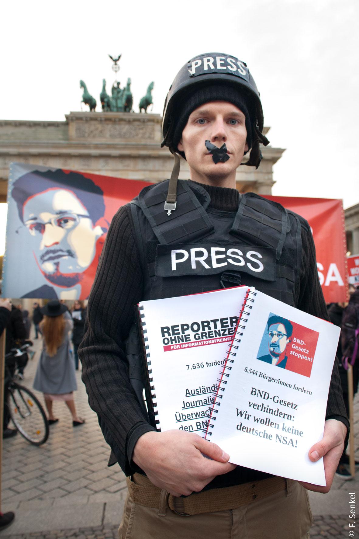 Protest gegen das BND-Gesetz. Foto: Mit freundlicher Genehmigung von Franziska Senkel, alle Rechte vorbehalten