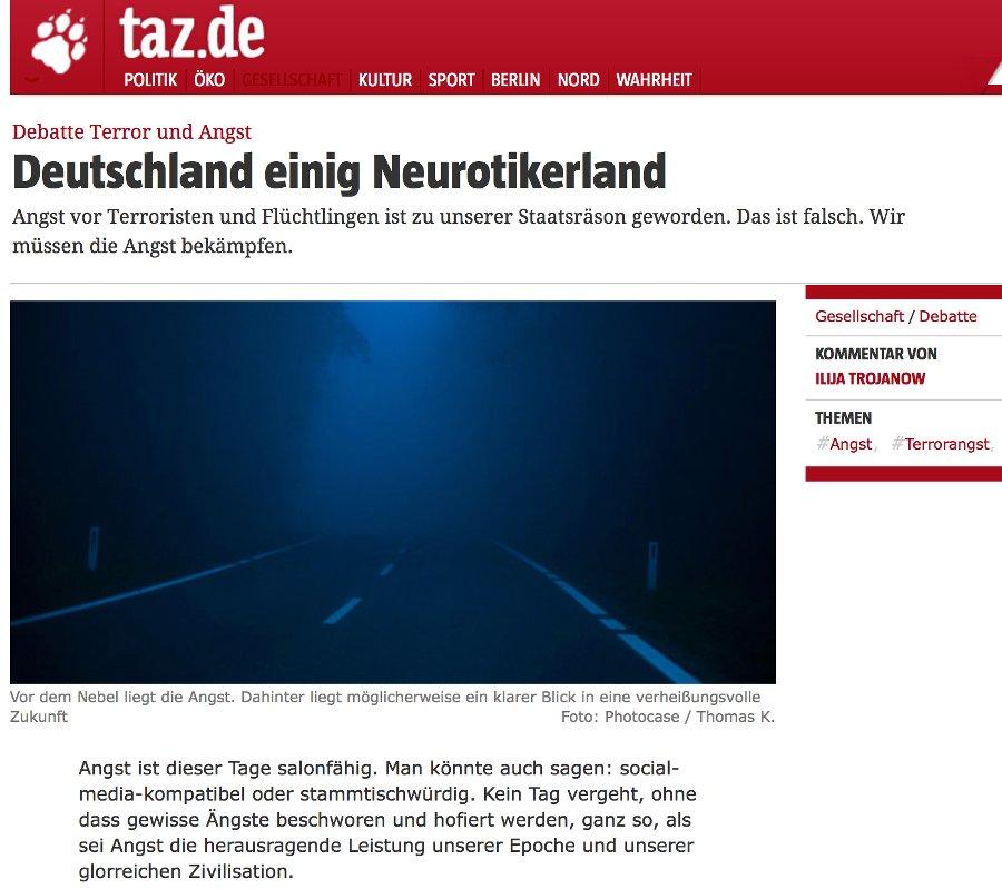 Deutschland einig Neurotikerland