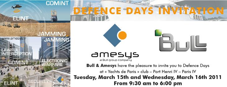 """Regierungsbeamte von Tansania bis Südafrika informierten sich bei den """"Defense Days"""" zu Überwachungstechnologien, gesponsert von Amesys und Bull, unterstützt von AGT."""
