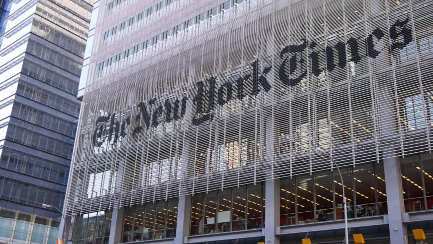 "Das ""New York Times""-Gebäude in Manhattan."