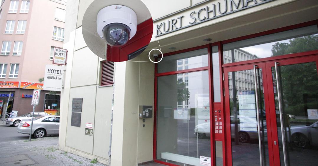 Videoüberwachungskamera an Berliner SPD-Zentrale