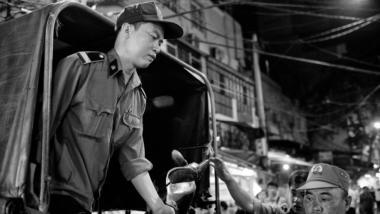 Vietnamesische Polizisten in der Hauptstadt Hanoi. (Symbolbild)