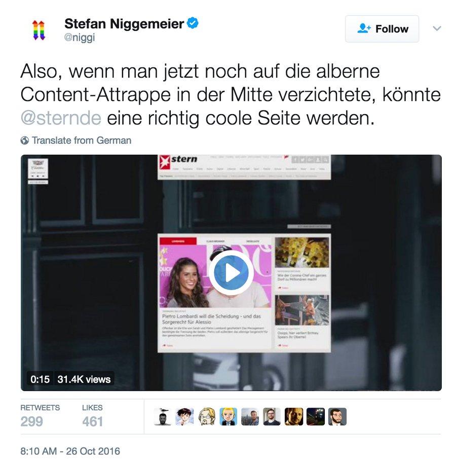 Foto: Screenshot Twitter Niggemeier