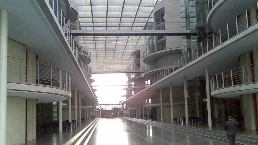 Blick in das Paul-Löbe-Haus des Deutschen Bundestages