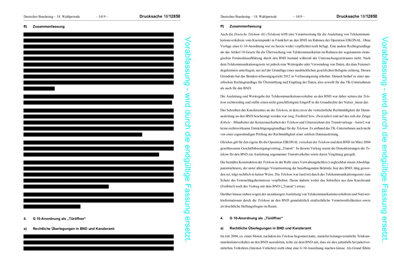 Geheimdienst-Untersuchungsausschuss: Wir veröffentlichen den ...