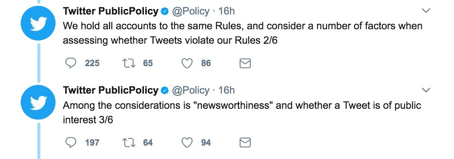 tweet public policy
