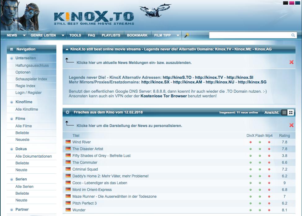 kinox alternative url