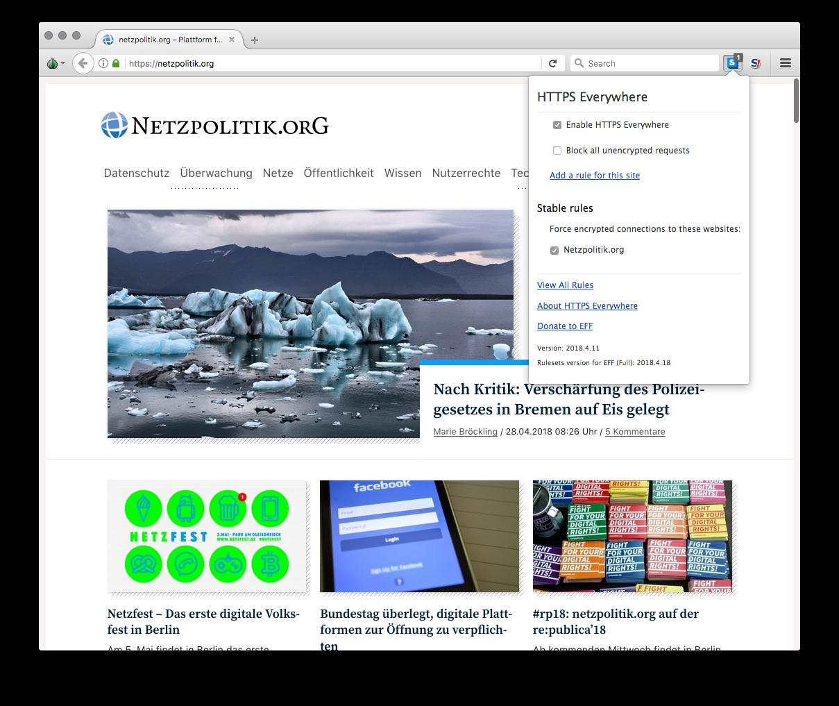 Den Tor-Browser samt mitgelieferten Erweiterungen gibt es für alle gängigen  Plattformen.