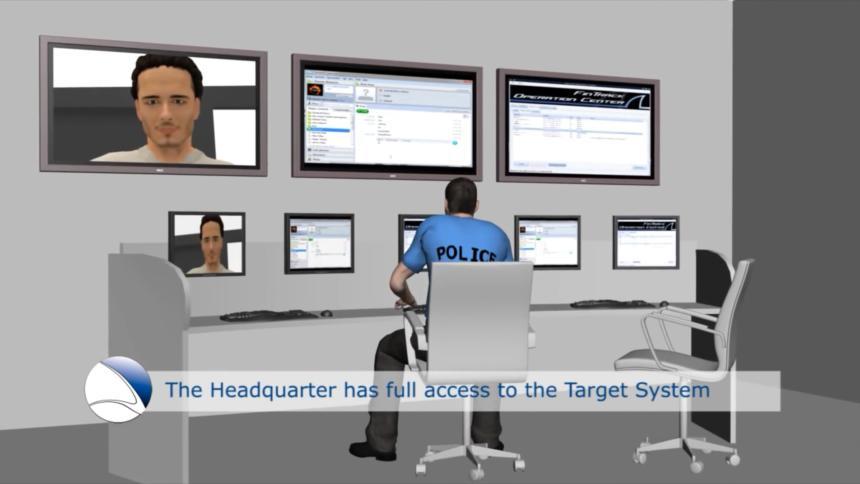 Die Polizei hat vollen Zugriff auf das Ziel-Telefon.