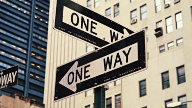 Straßenschild in New York