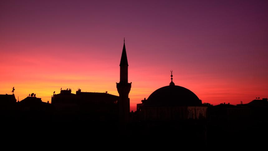 Morgenröte über Istanbul