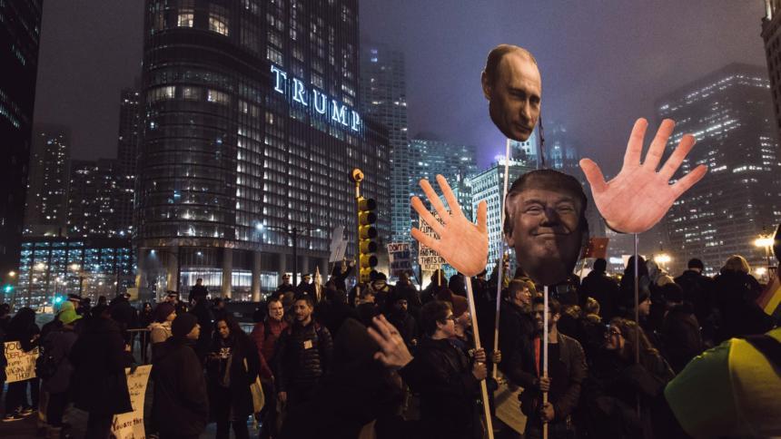 Proteste gegen Trump und Putin in den USA