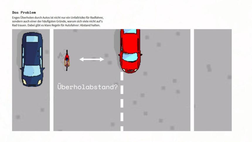Gefahrliche Manover Crowd Projekt Misst Abstand Von Autos Beim