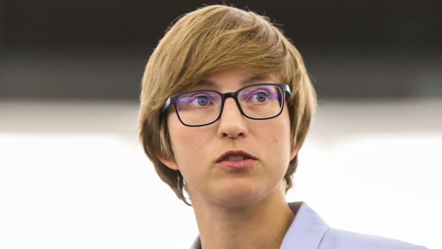 Julia Reda bei einer Debatte zum Urheberrecht im EU-Parlament