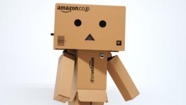 Eine Figur aus Amazon Pappkartons