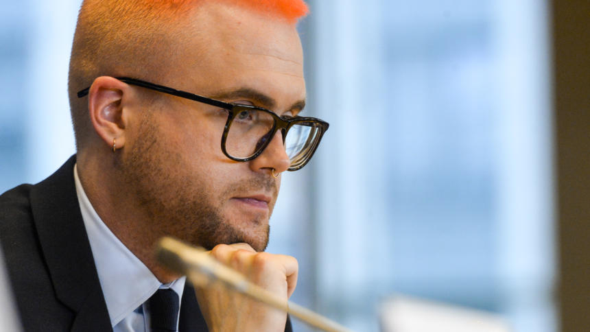 Christopher Wylie im EU-Parlament
