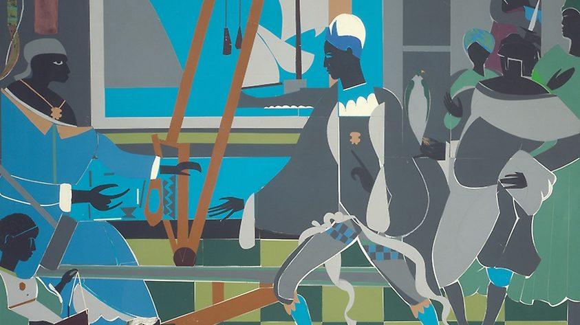 Die Rückkehr des Odysseus, gemalt von Romare Howard Bearden