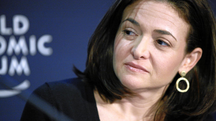 Foto von Sheryl Sandberg auf dem World Economic Forum