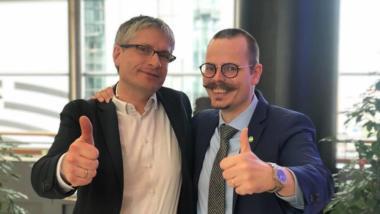 Die grünen Abgeordneten Sven Giegold und Max Andersson