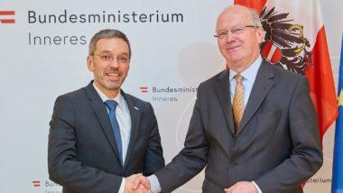 Österreichs Innenminister Kickl und Ex-Staatssekretär Fritsche