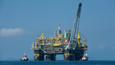 Öl-Bohrplattform in Brasilien