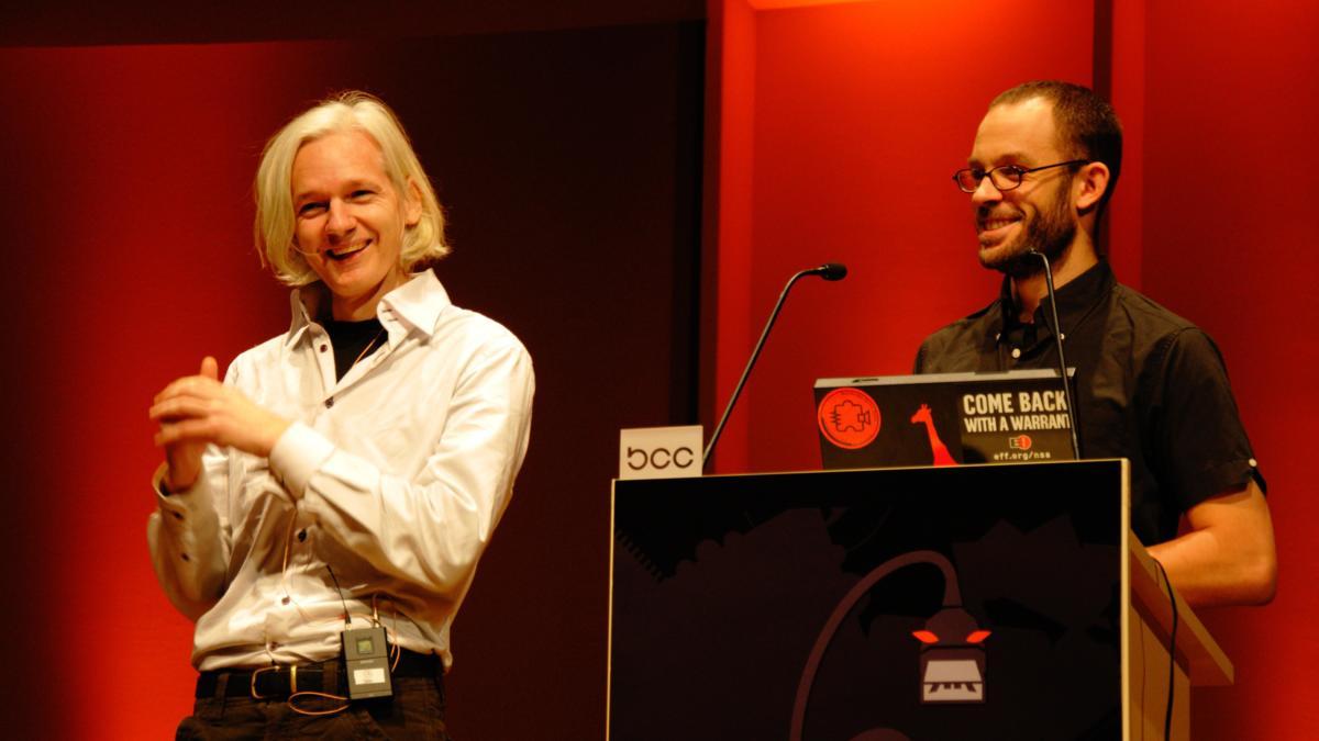 Assange and Domscheit-Berg