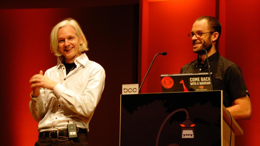 Assange and Domscheit-Berg