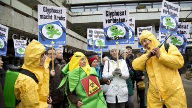 Demonstranten gegen Glyphosat