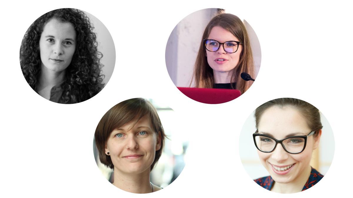 Von links nach rechts: Ailidh Callander, Kirsten Fiedler, Estelle Masse und Katarzyna Szymielewicz.