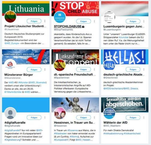 Screenhsot von Twitter-Accounts