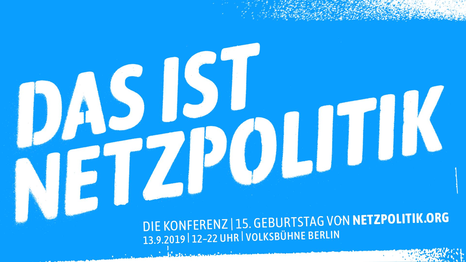 """Banner """"Das ist Netzpolitik!"""""""